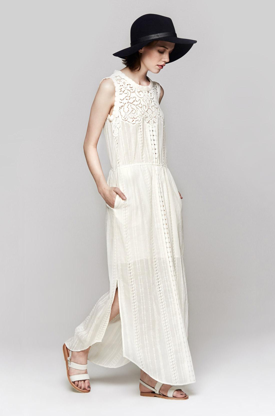 Lyst - Sea Lace Eyelet Long Dress in White