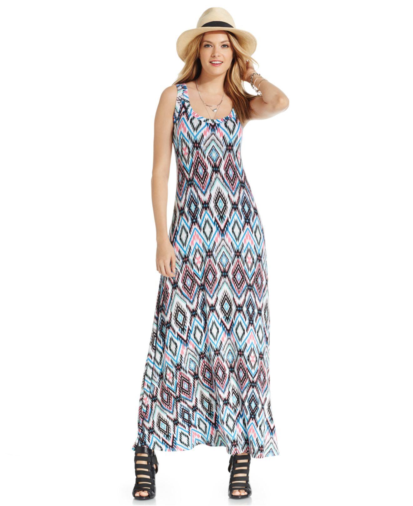 Ikat print maxi dress