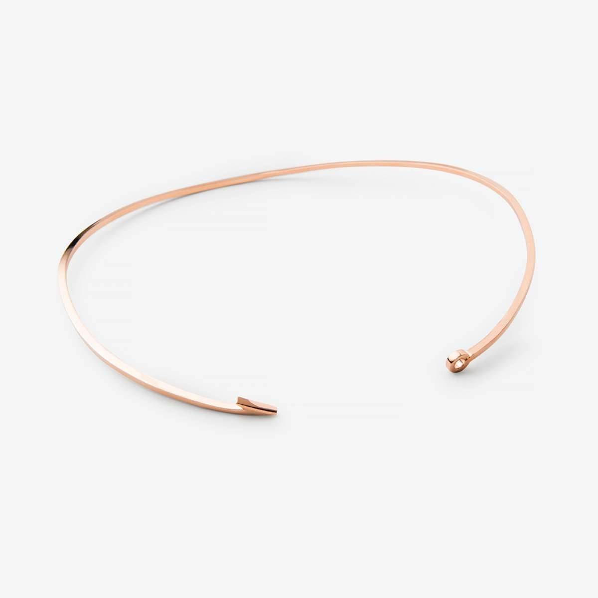Miansai thin fish hook necklace rose vermeil polished in for Gold fish hook necklace
