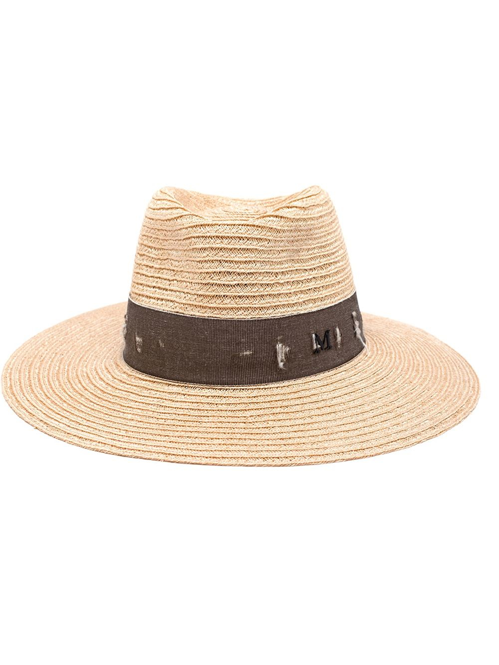 Maison michel 39 charles 39 hat in natural lyst for Maison michel