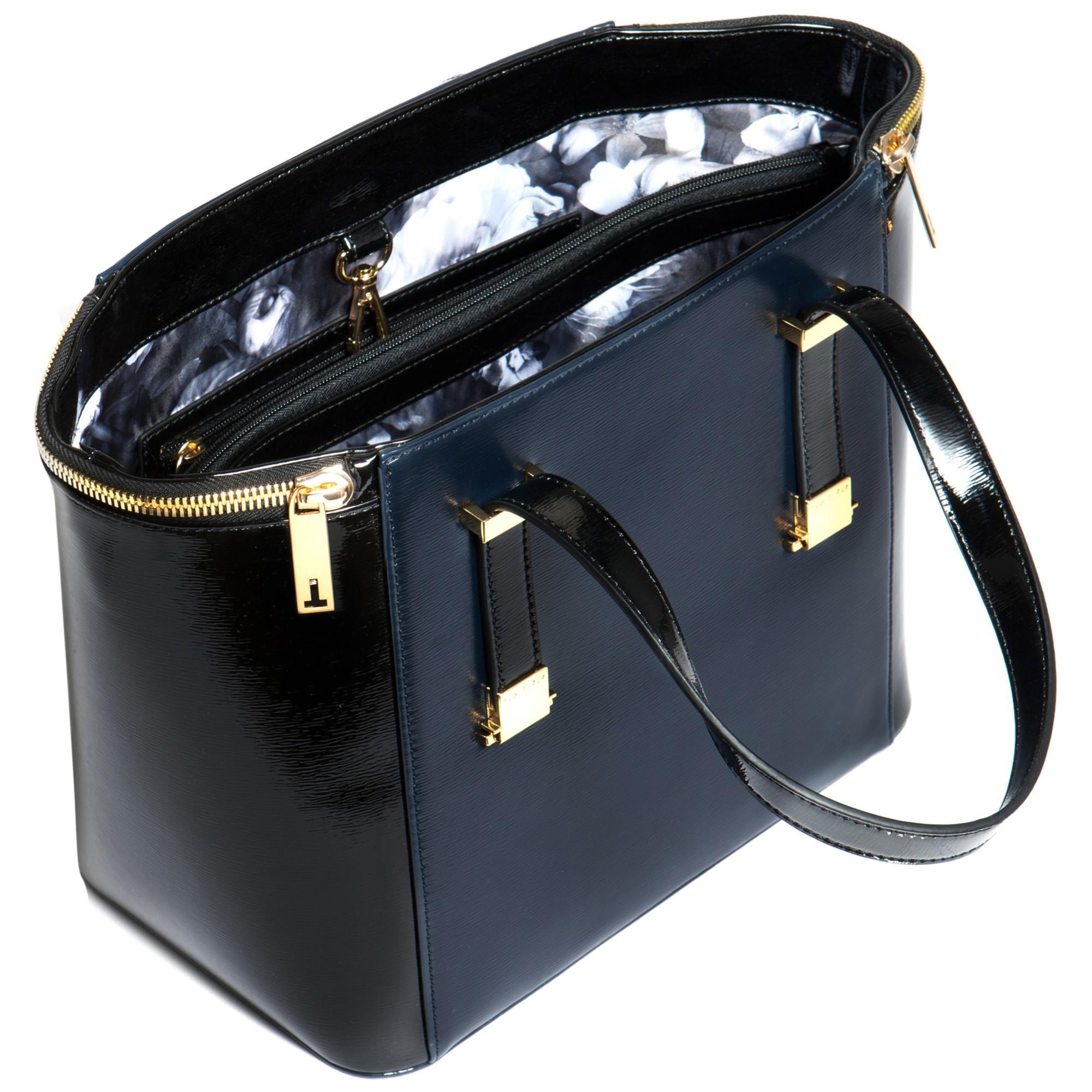 7b2c0450ec3c Ted Baker Morgan Adjustable Crosshatch Tote Bag in Blue - Lyst