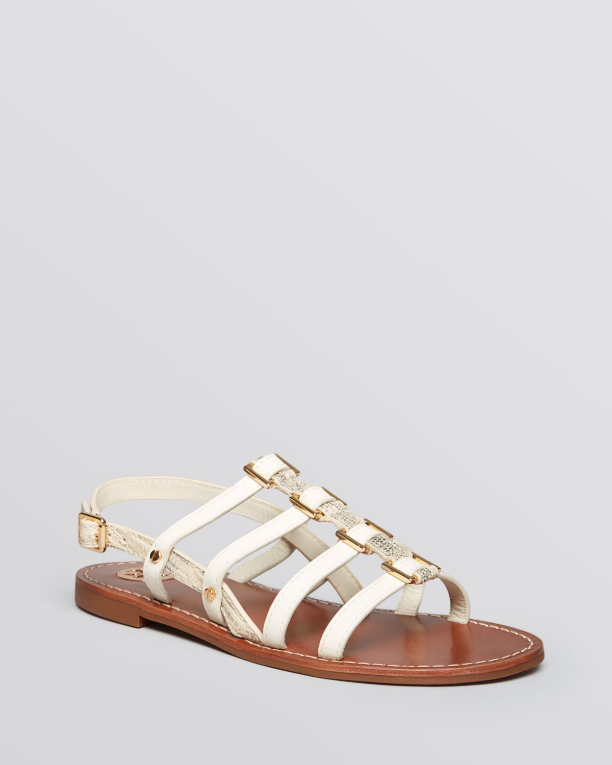55754b4a6 Lyst - Tory Burch Flat Gladiator Sandals Reggie in Natural