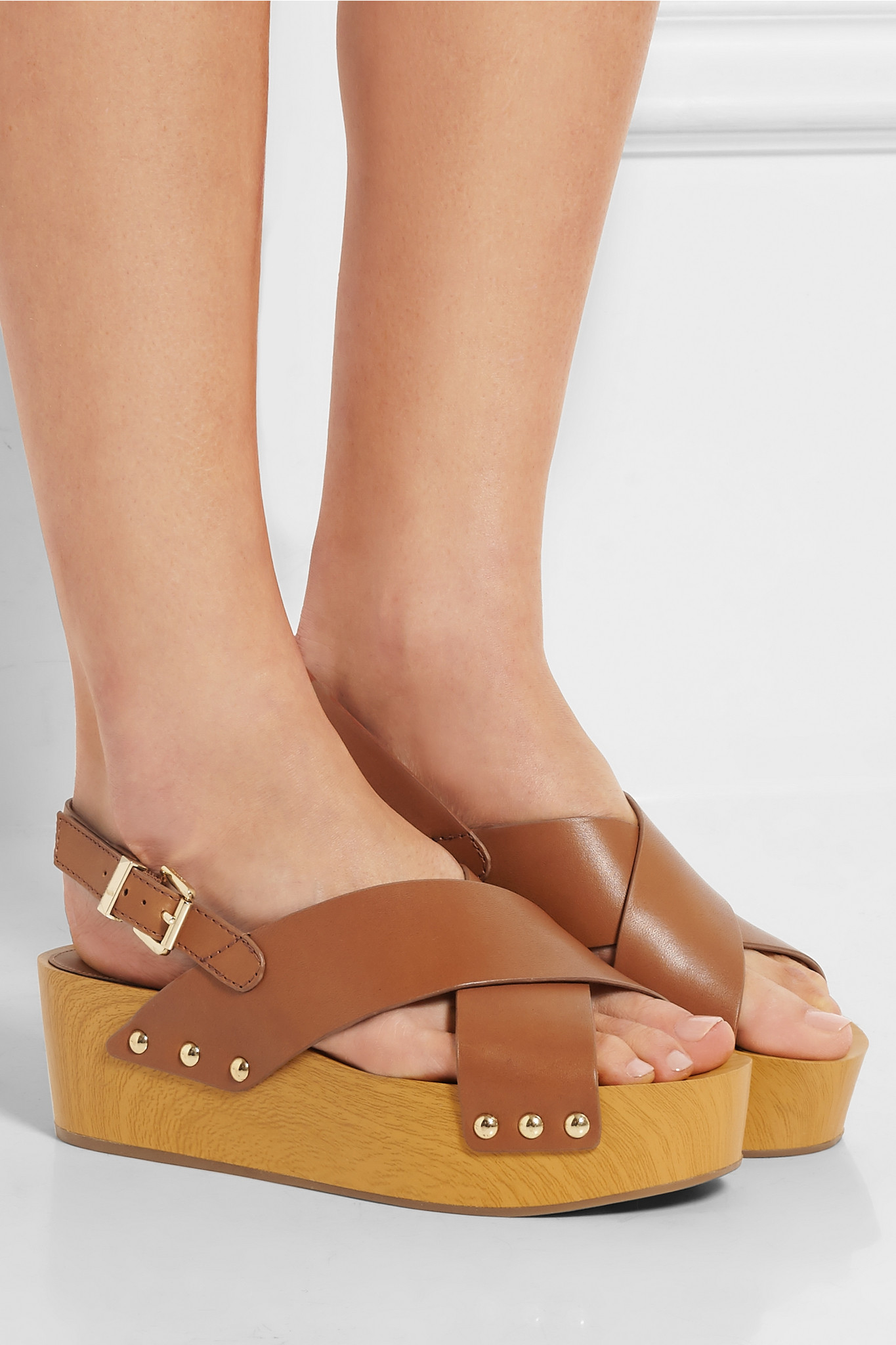 0b7fb3f0e60 Lyst - Sam Edelman Bentlee Leather Platform Sandals in Brown