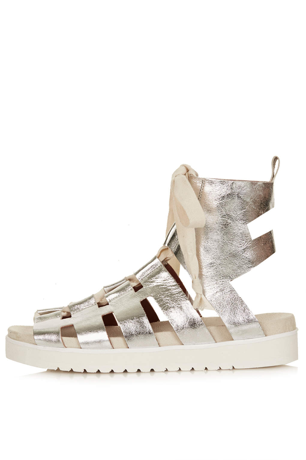 Topshop Gladiator Shoes By Unique In Metallic Lyst