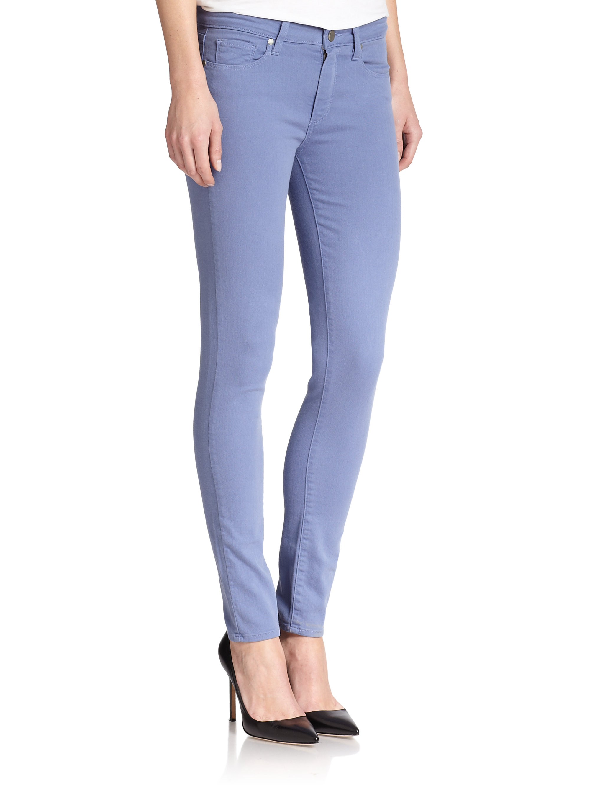 Lyst - Paige Verdugo Colored Skinny Jeans in Purple