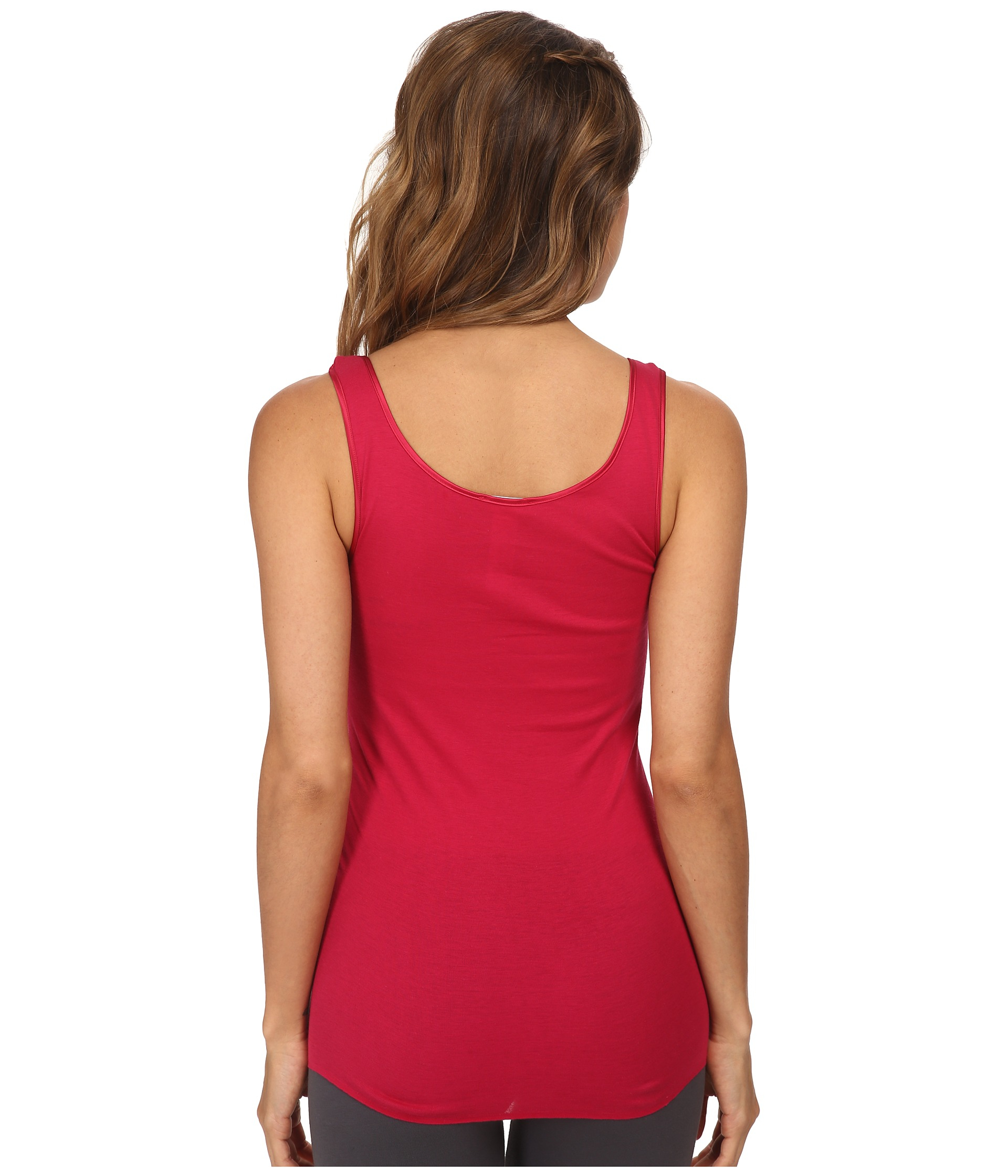 0b4537373b Lyst - Hanro Cotton Seamless Confetti Round Neck Tank Top in Red
