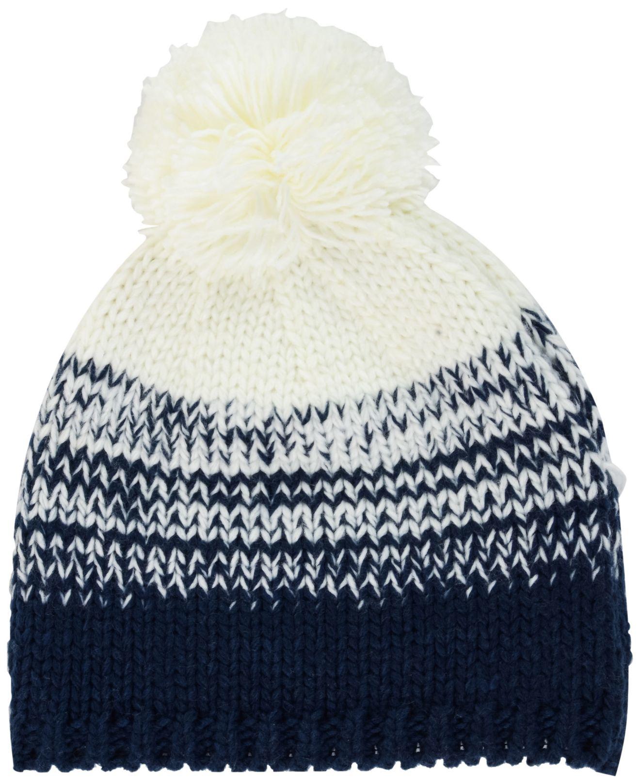 cheaper f60a1 312fe KTZ Women s New England Patriots Polar Dust Knit Hat in White - Lyst