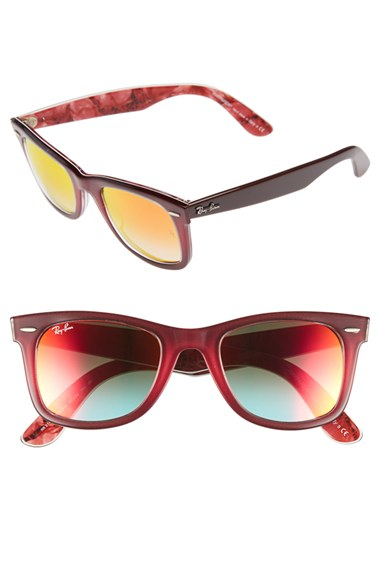 ray ban sunglasses with red arms