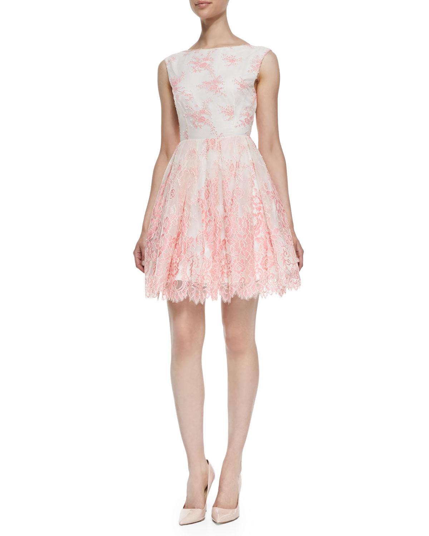 Lyst Alice Olivia Fila Lace Overlay Sleeveless Dress