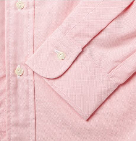 Pink Oxford Button Down Shirt Oxford Shirt in Pink For