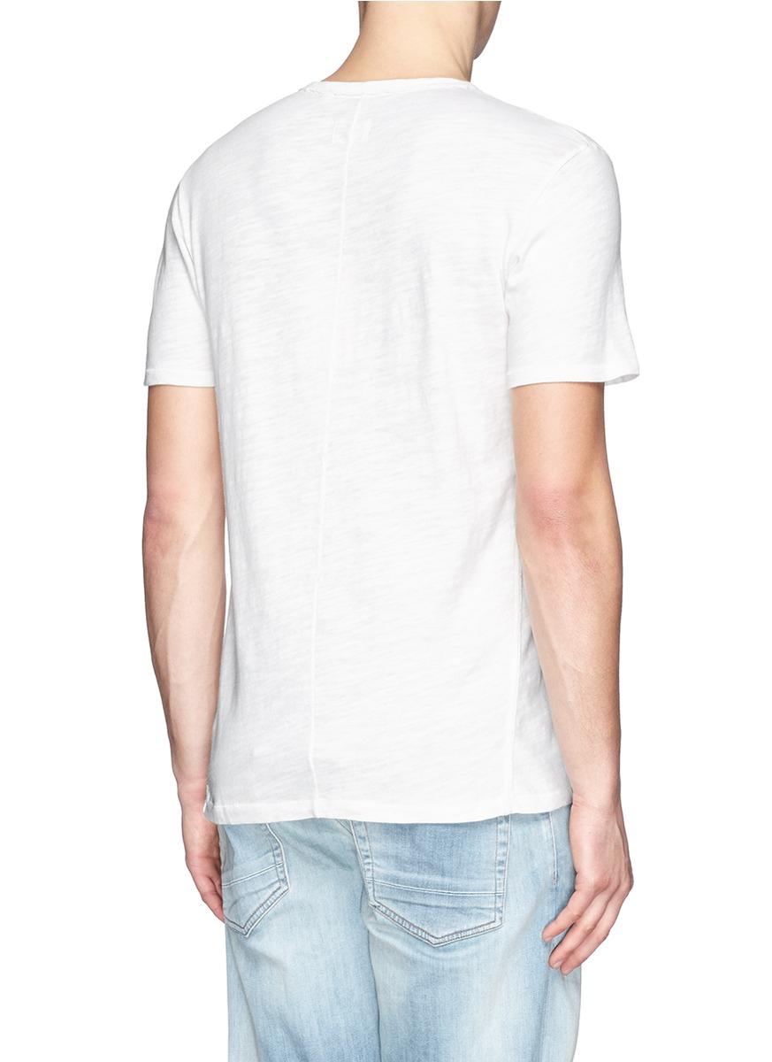 Rag Bone Basic Cotton T Shirt In White For Men Lyst