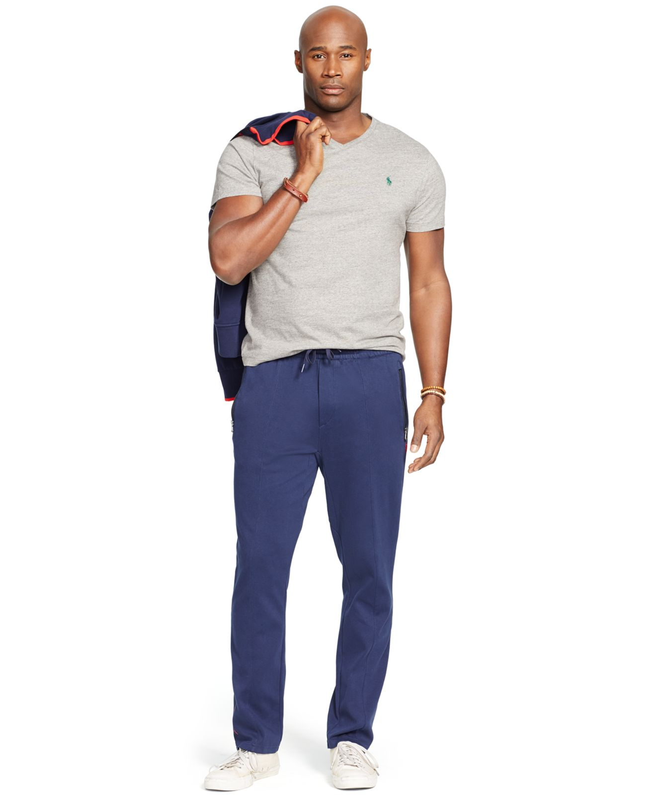 Polo ralph lauren big and tall solid jersey t shirt in for Tall ralph lauren polo shirts