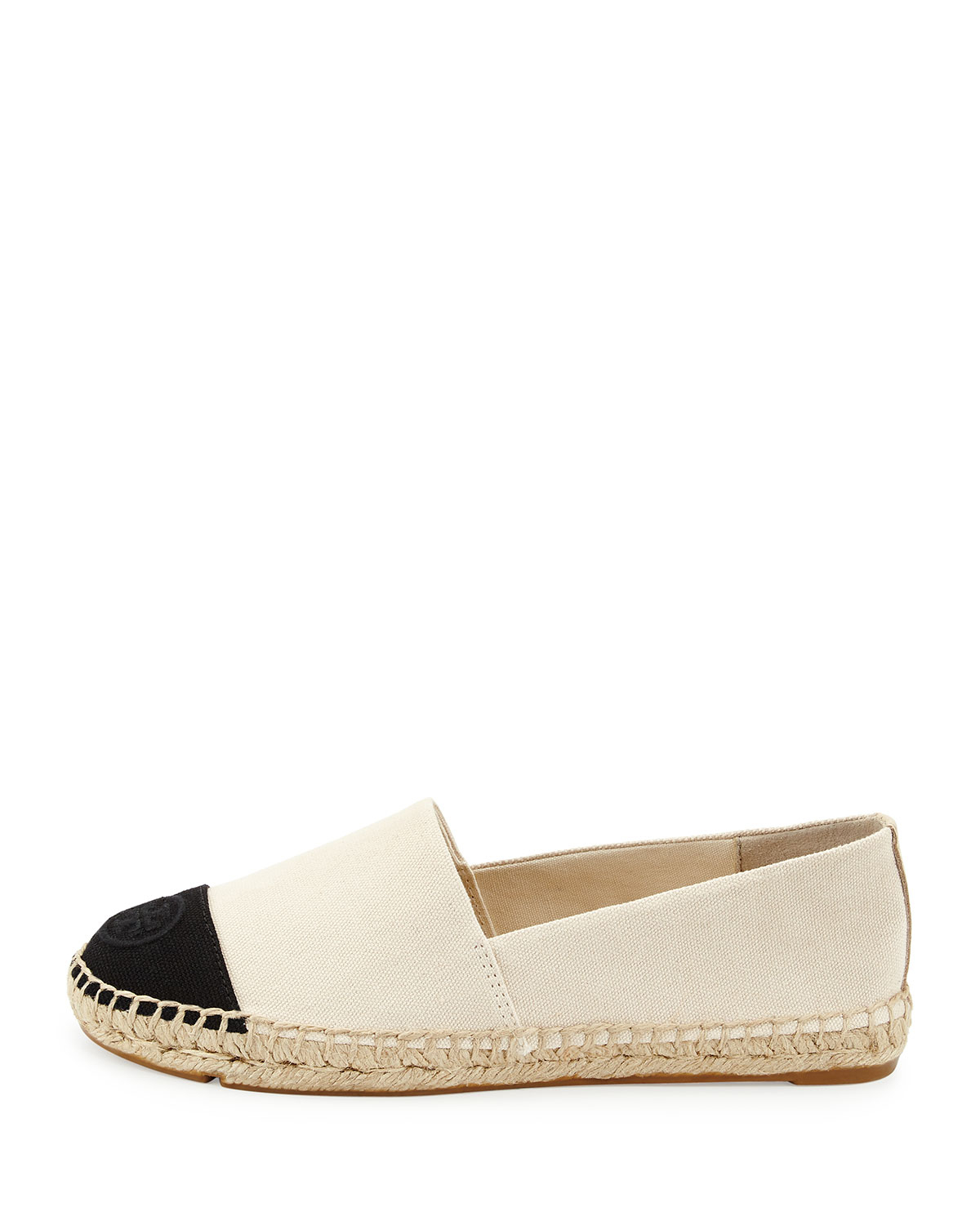 56793dfc8479 Lyst - Tory Burch Canvas Colorblock Espadrille Flat in White