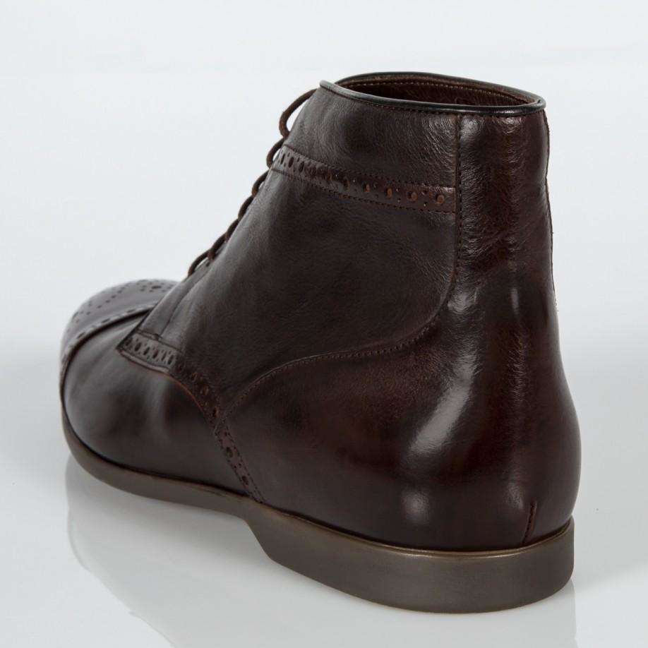 Paul Smith Men S Brown Leather Jesse Brogue Boots With