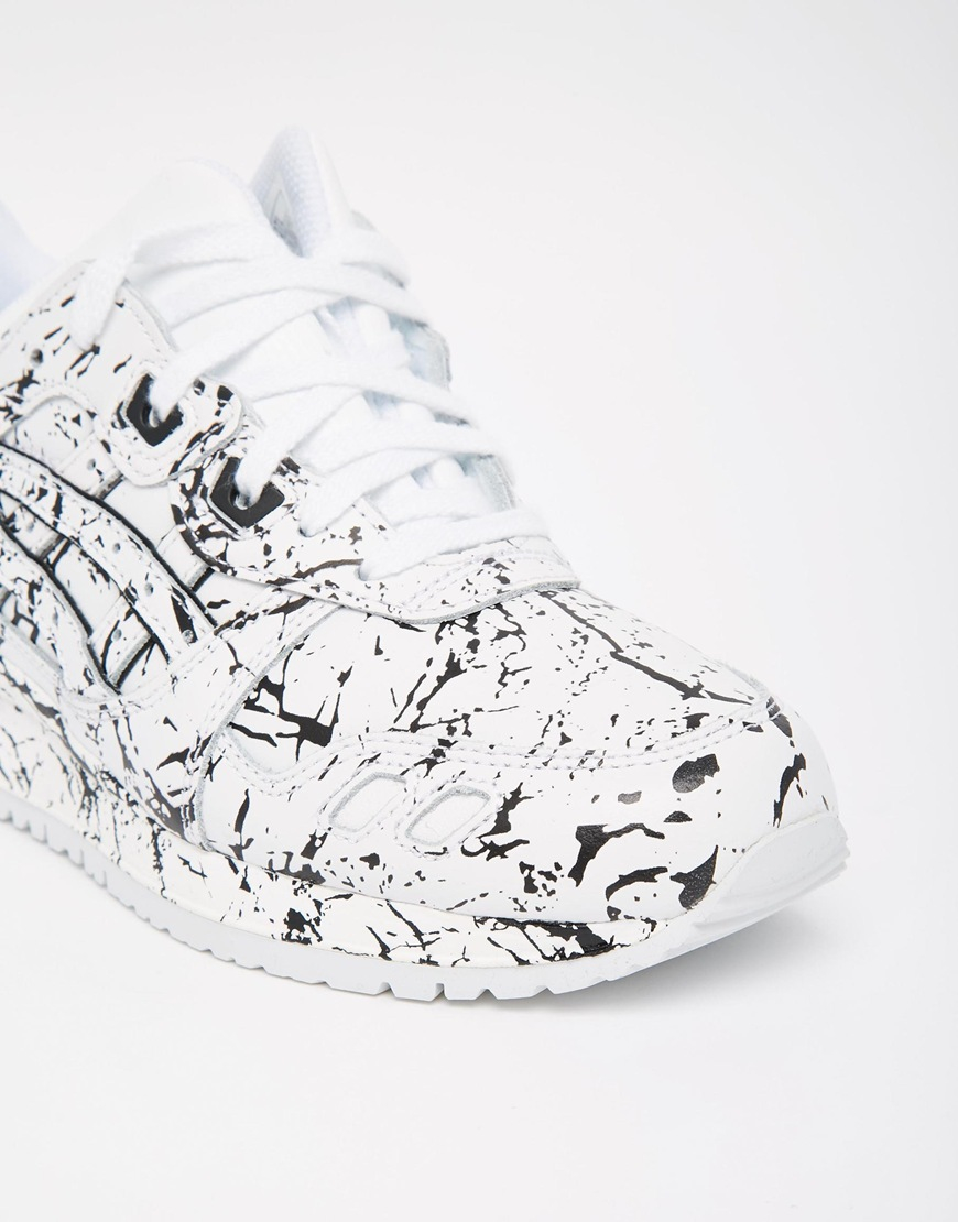 Lyst Asics Gel Lyte Iii White Paint Splash Trainers In Black