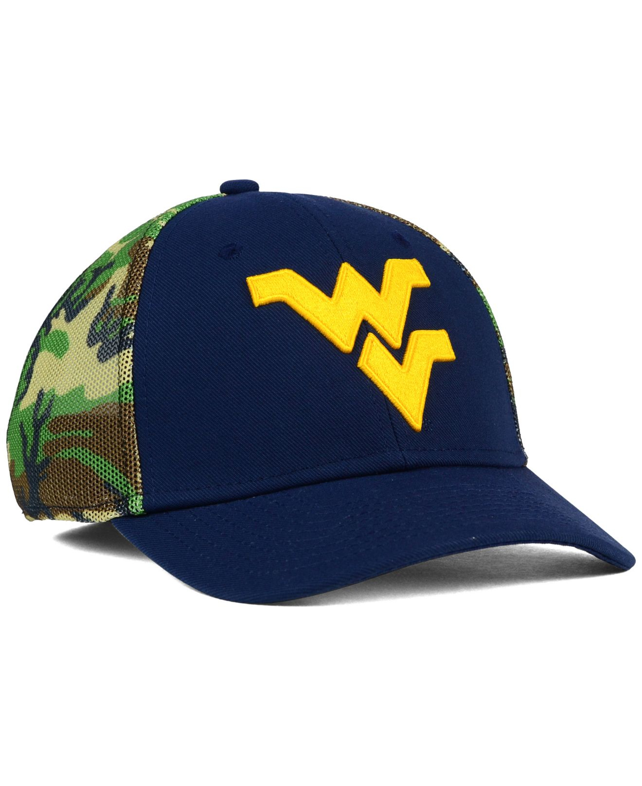 the latest f2baf fbf15 ... official lyst nike west virginia mountaineers camo hook swooshflex cap  in cc53a 23b12