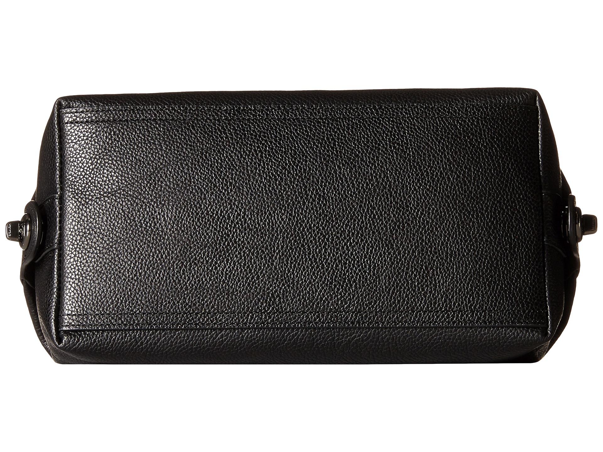 108aadaf87 Lyst - COACH Refined Pebbled Dopp Kit in Black for Men