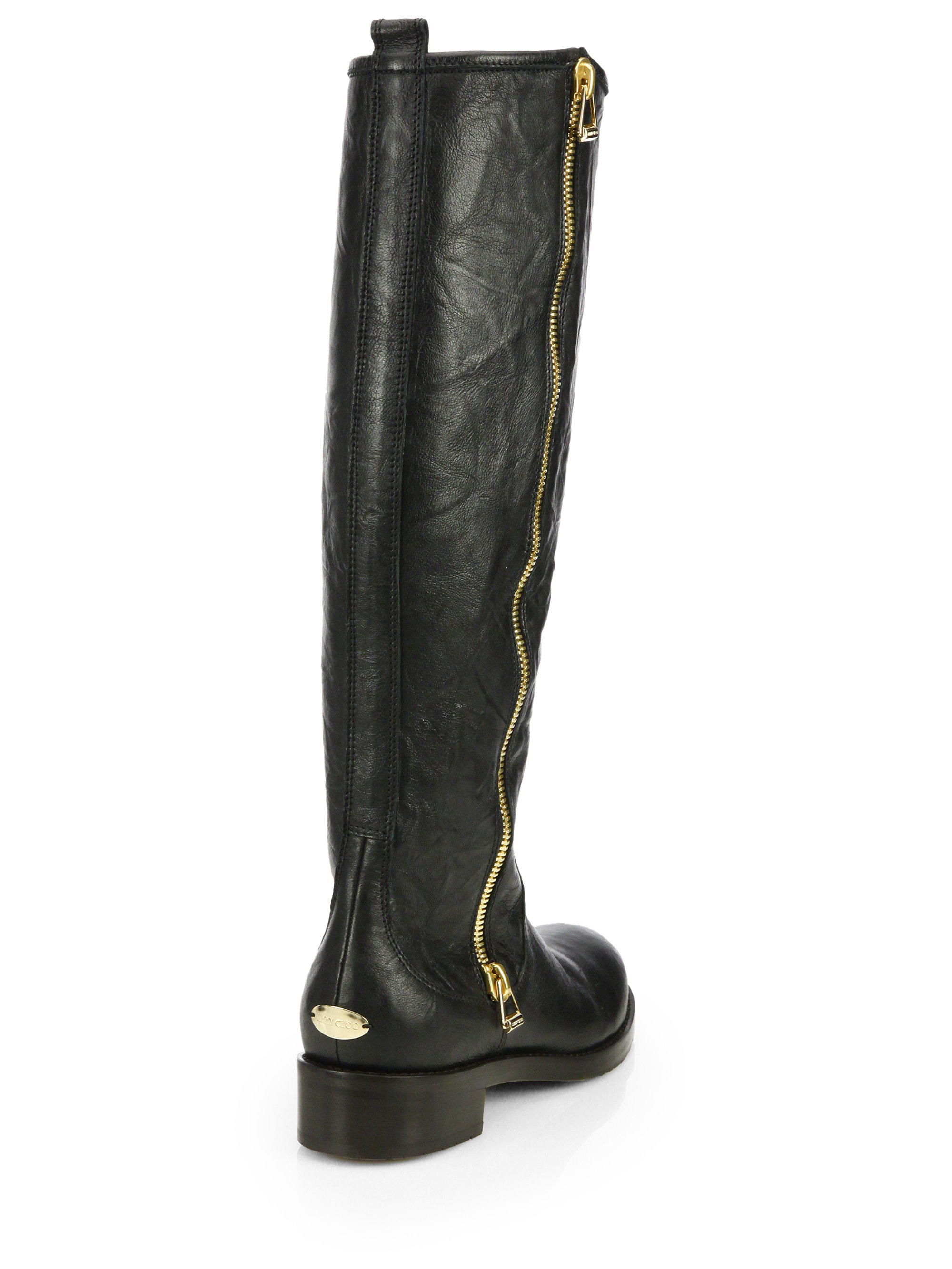 Jimmy Choo Leather Knee-High Boots pre order cheap online buy cheap 2014 VPY3WM