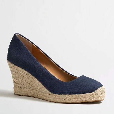 594c01131a3 Factory Canvas Espadrille Wedges ~ Ladies Wedge Sandals