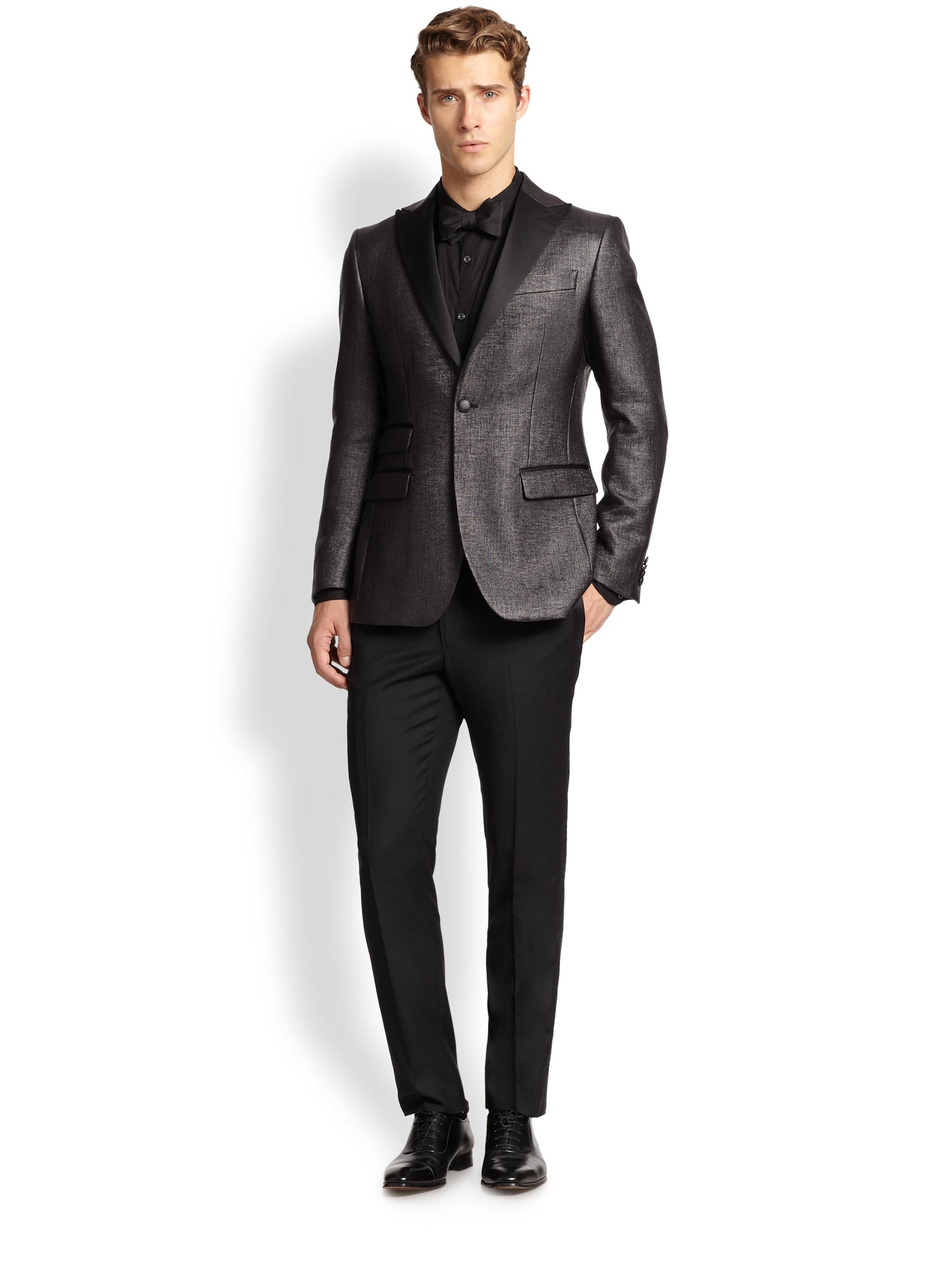 Porter fresco tuxedo pants in black for men lyst for Men a porter