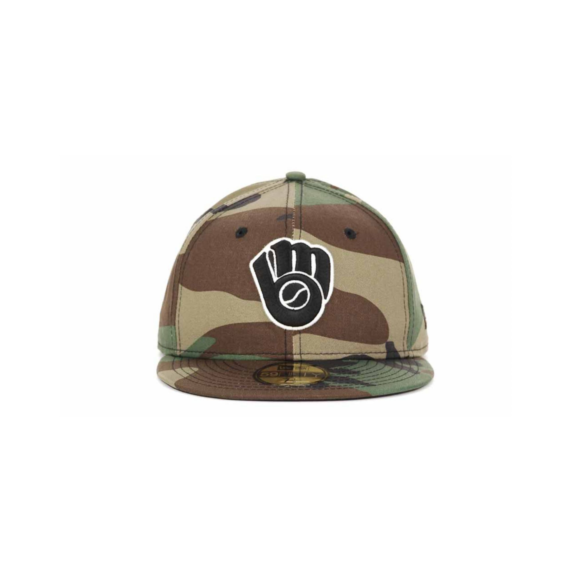 0ec24a6f76f88a ... authentic lyst ktz milwaukee brewers camo 59fifty cap in green for men  80b32 d35d2