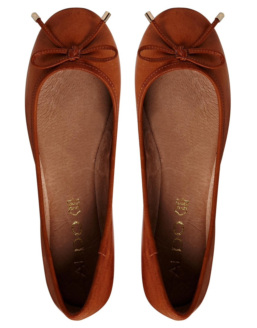 aldo koten leather flat shoes in brown lyst