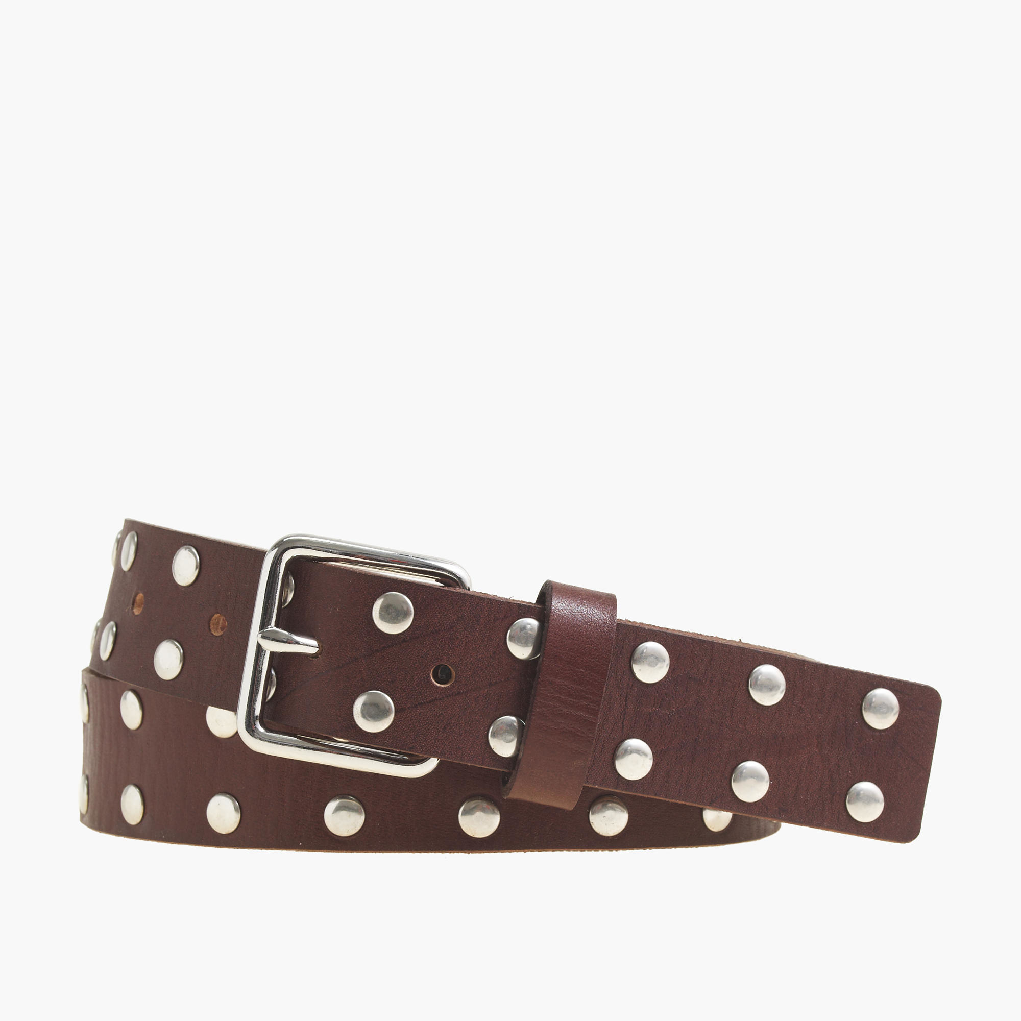 j crew studded belt in brown chestnut lyst