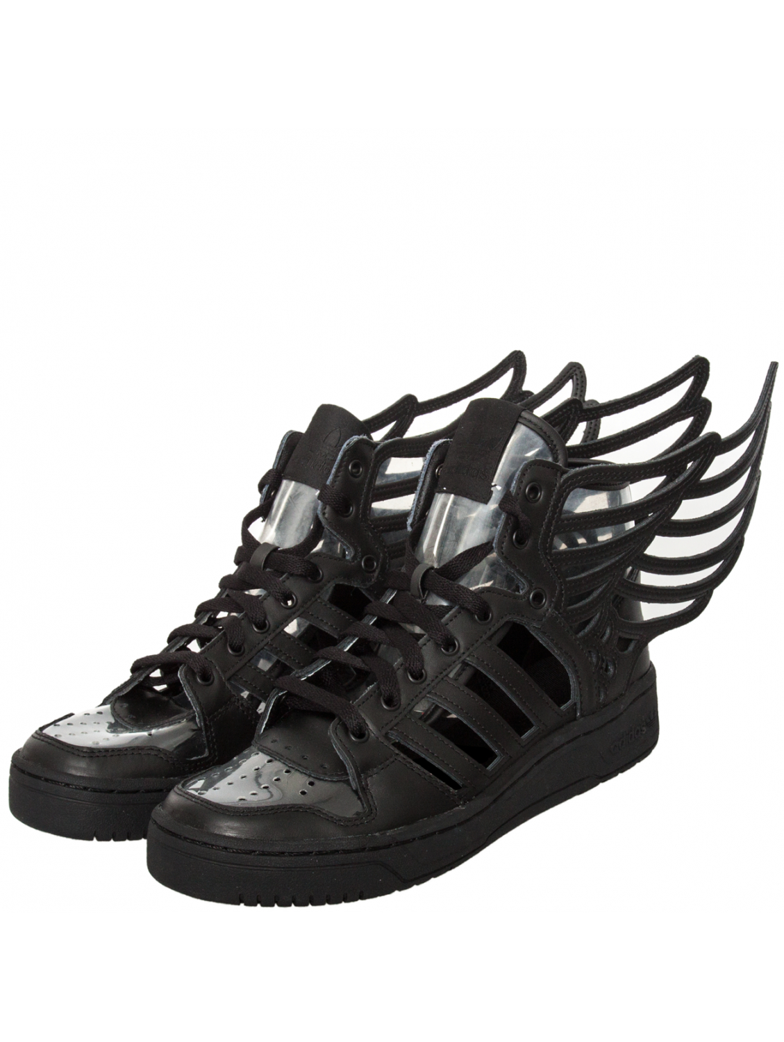 newest 562cd 060d5 Lyst - Jeremy Scott For Adidas Cut Out High Top Wings 2.0 Black in Black for