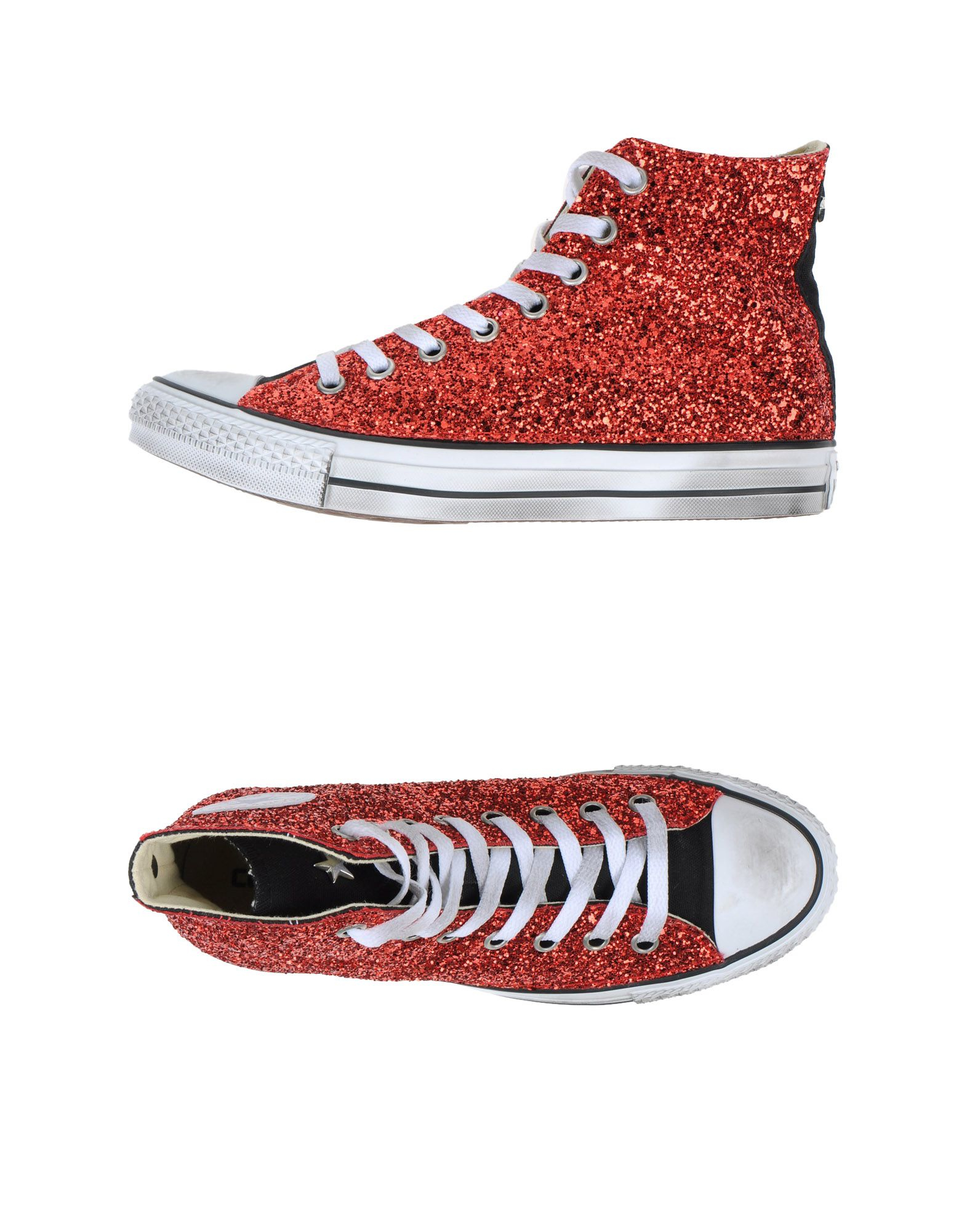 converse hightops amp sneakers in red lyst
