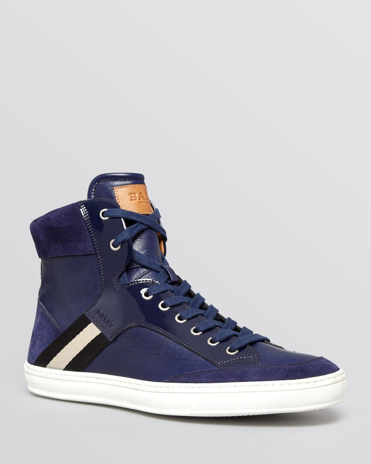 Lyst Bally Oldani High Top Sneakers In Blue For Men