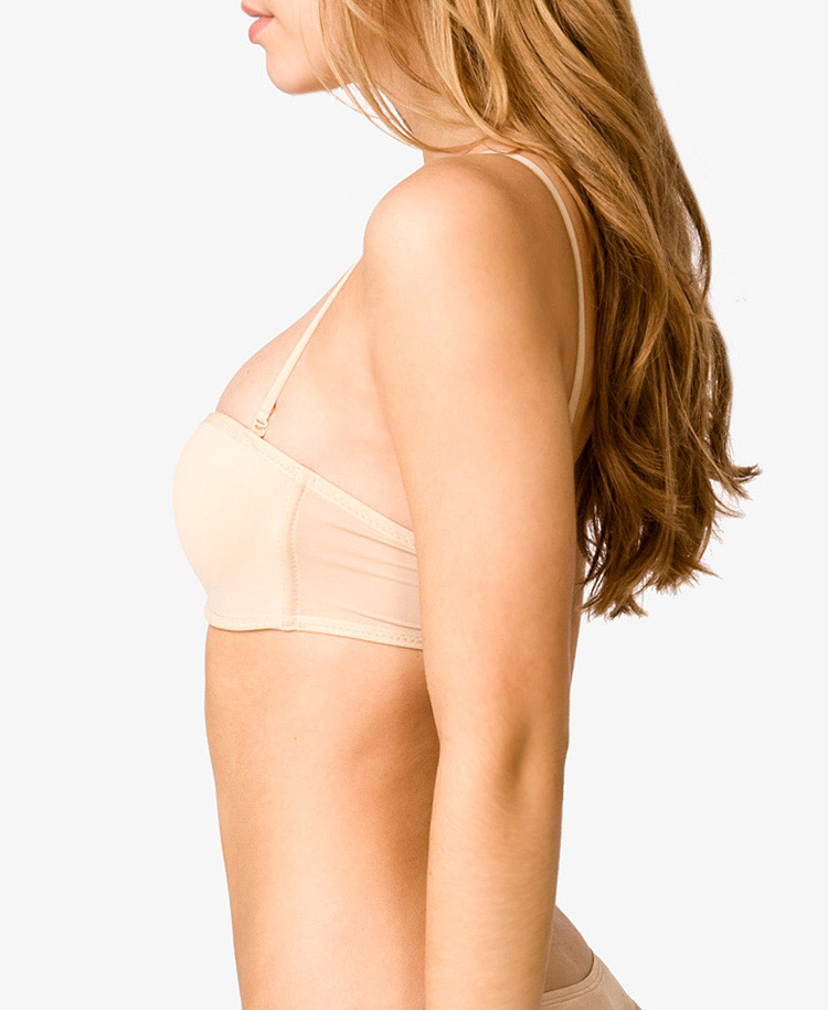 Forever 21 Wireless Microfiber Convertible Bandeau Bra in Natural ...