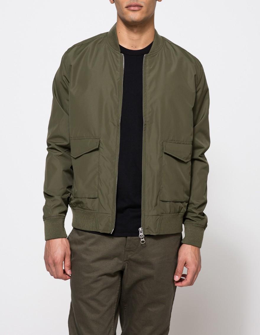 Topman Olive Bomber Jacket in Green for Men | Lyst