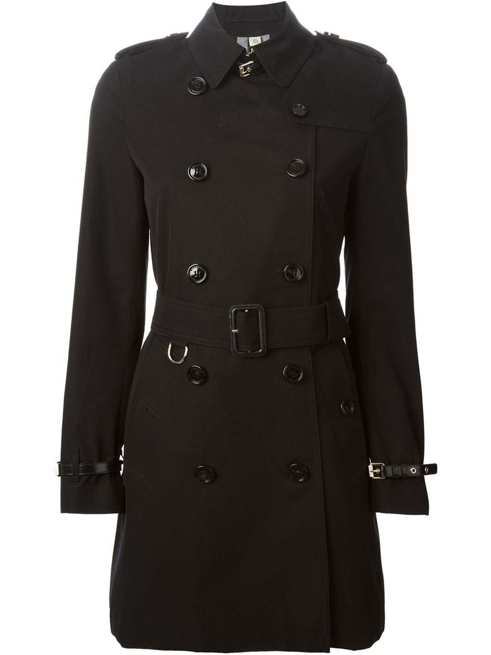 Burberry Belted Trench Coat in Black