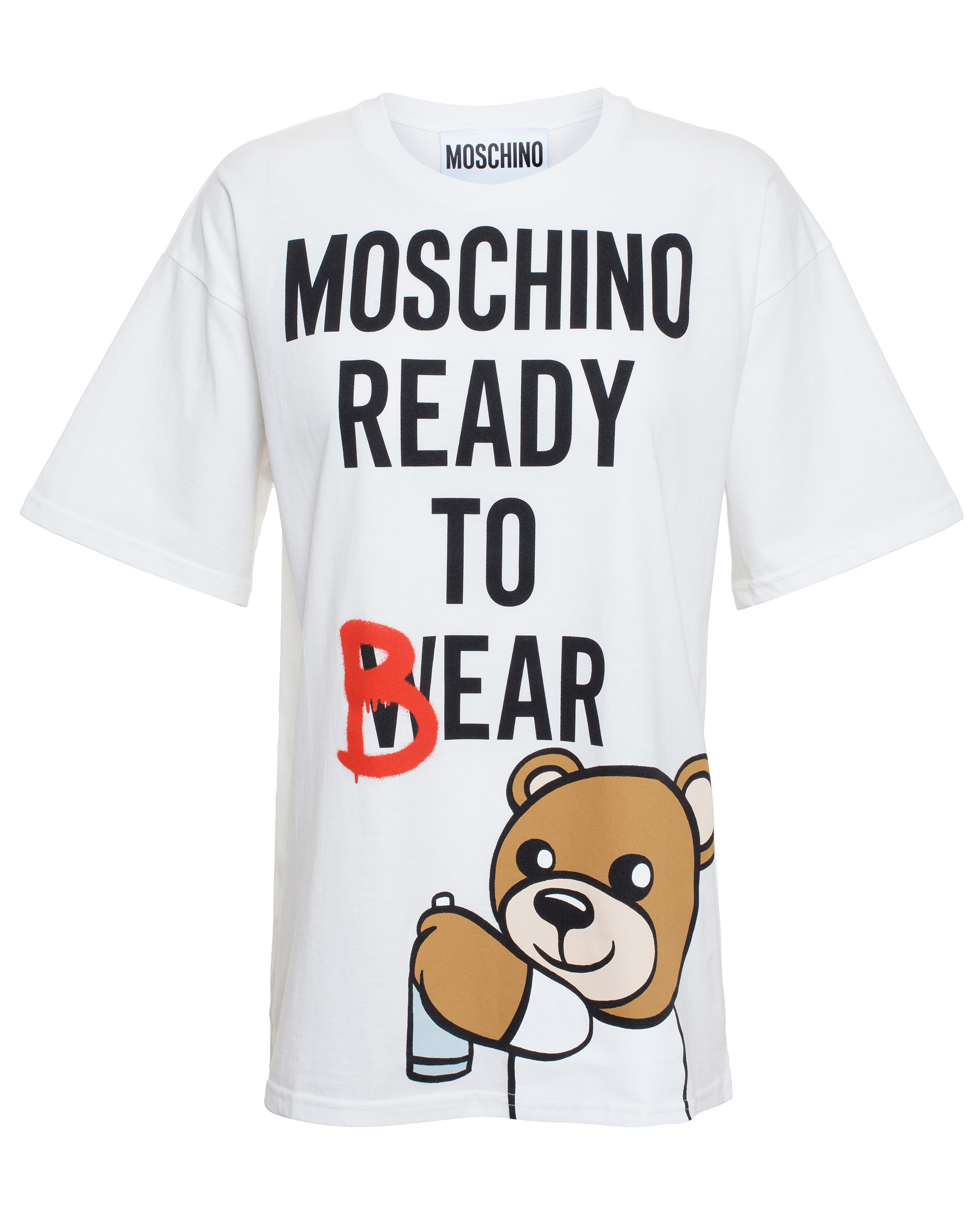 93d722e8722 Moschino Oversized Ready To Bear T-Shirt in White - Lyst