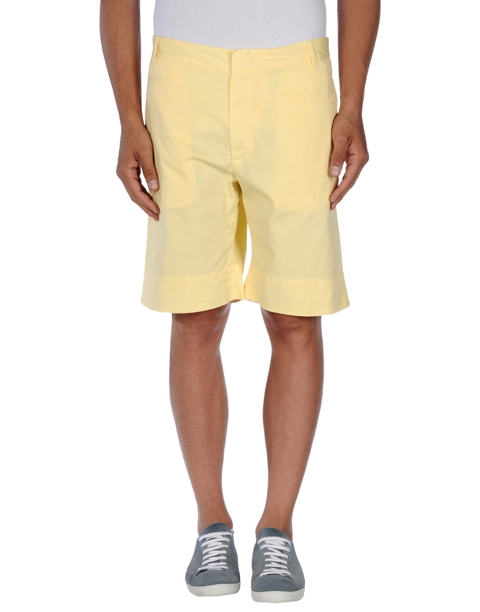 Fred perry Bermuda Shorts in Yellow for Men