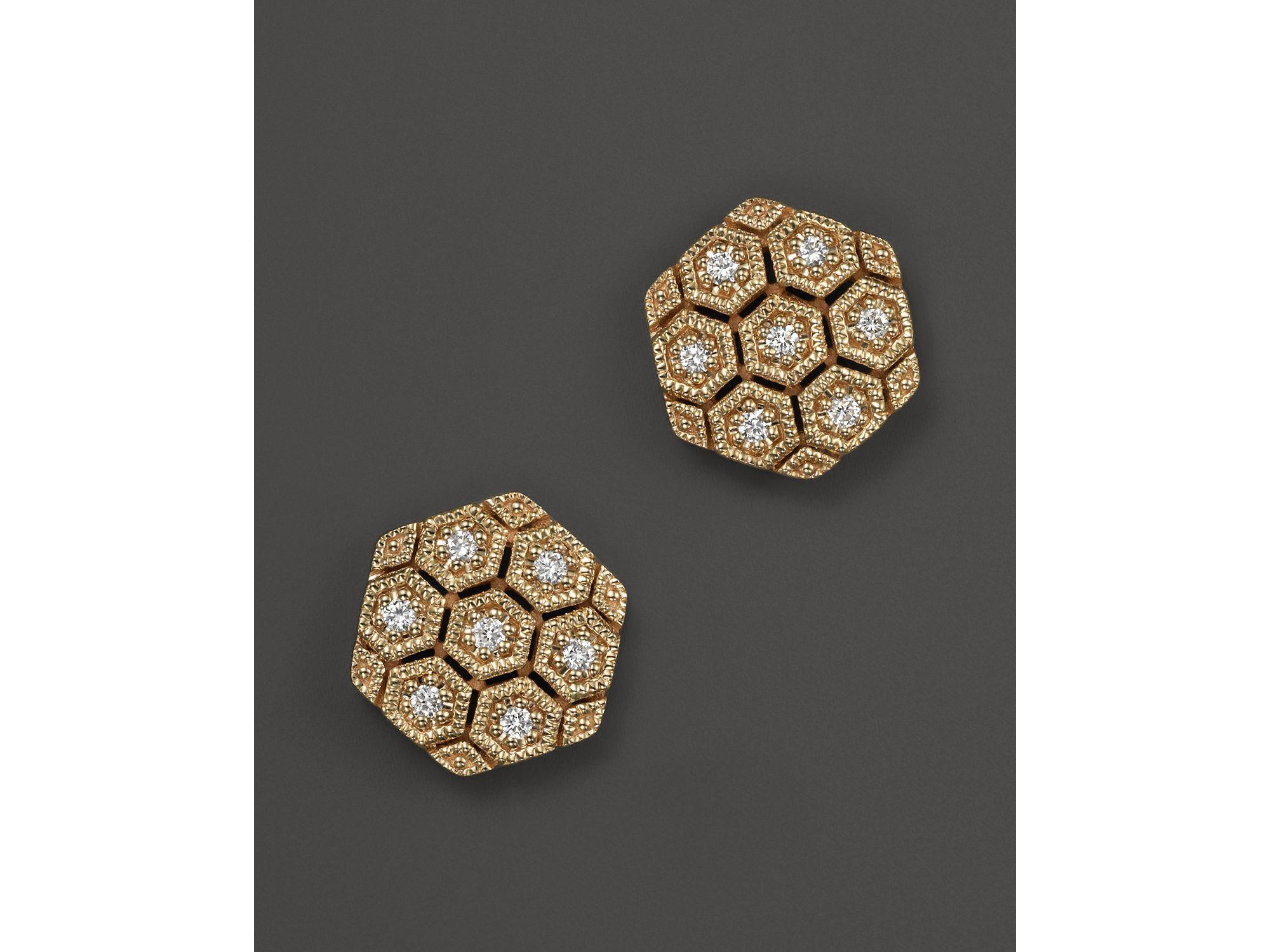 lyst dana rebecca 14k yellow gold and diamond jennifer. Black Bedroom Furniture Sets. Home Design Ideas