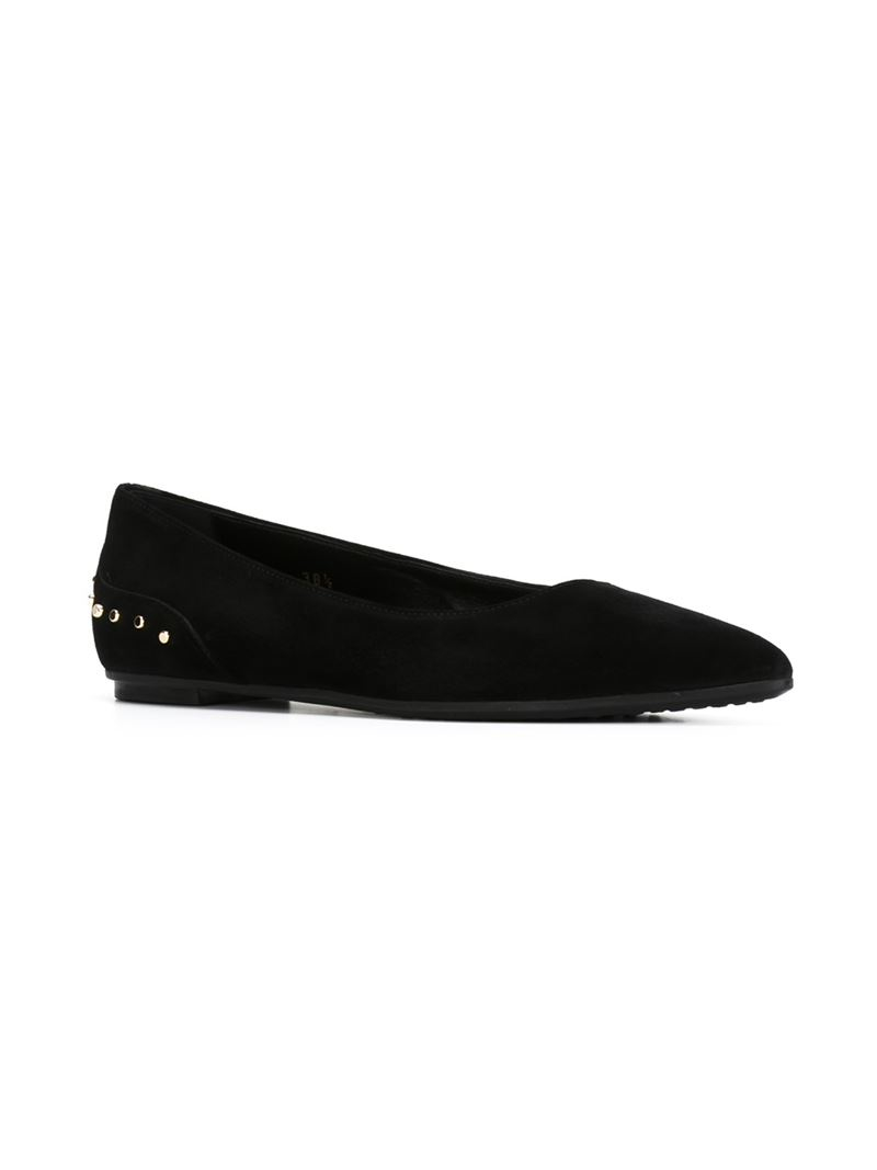 cheap browse hot sale sale online Tod's Pointed-Toe Patent Leather Flats shop cheap price yypd9xU0