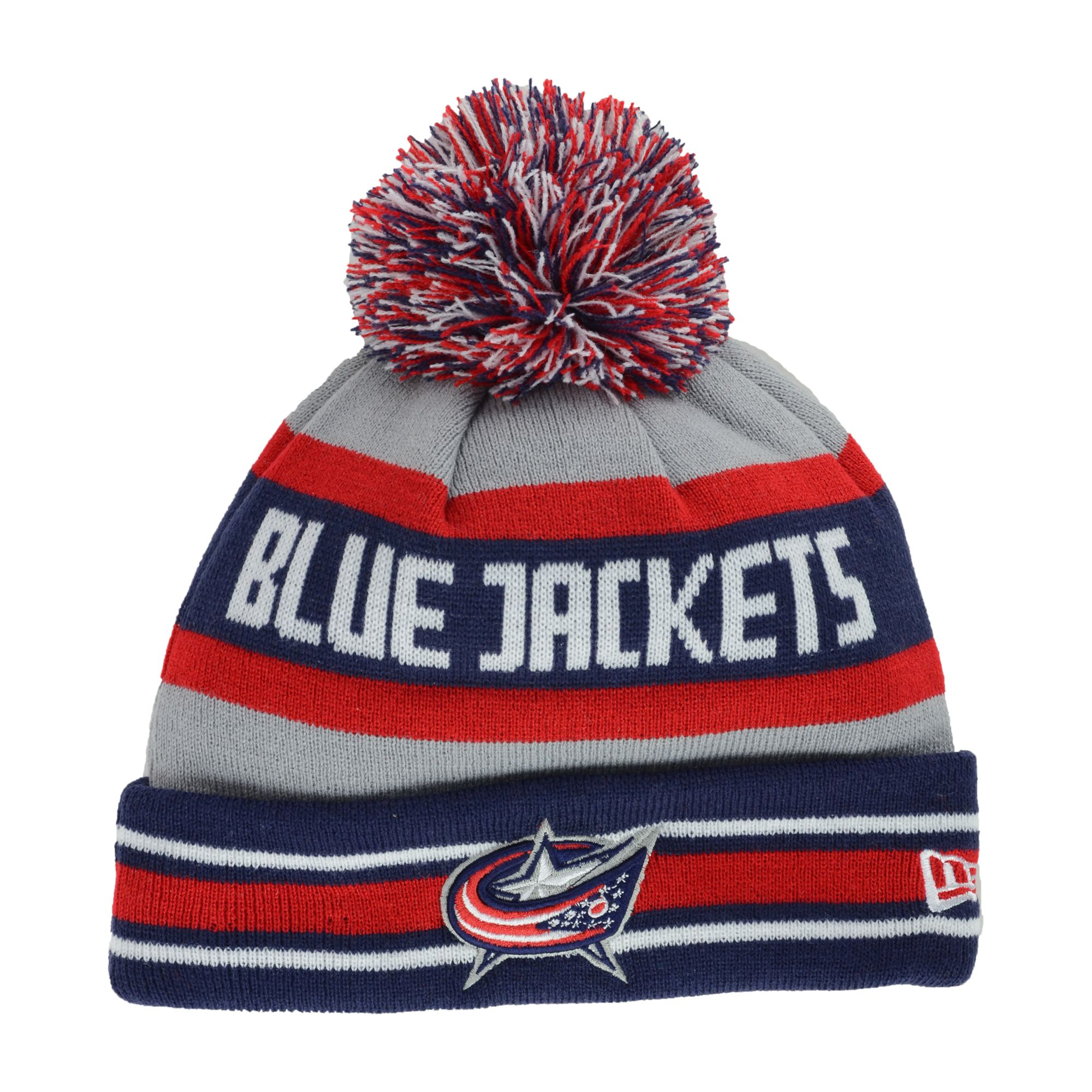 785bfbe6a30 ... spain lyst ktz columbus blue jackets jake pom knit hat in gray for men  4a0de ef86d ...