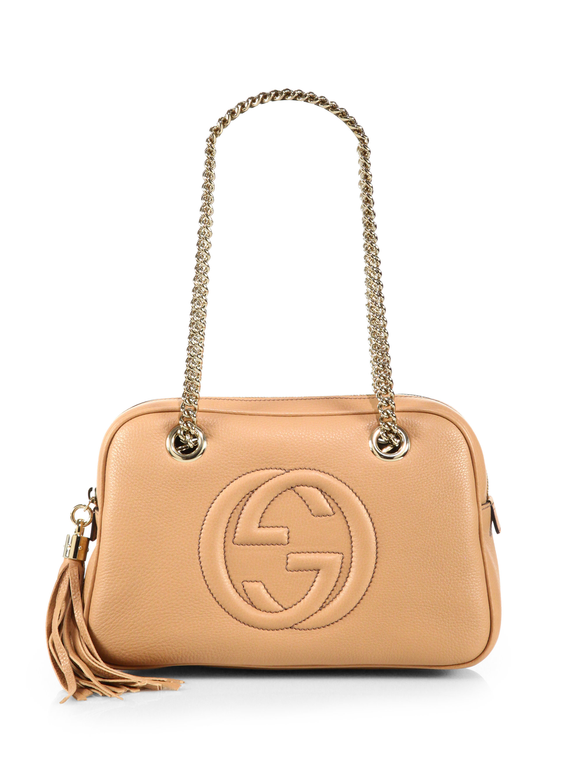 c8790d68fb3 Lyst - Gucci Soho Leather Chain Shoulder Bag in Pink