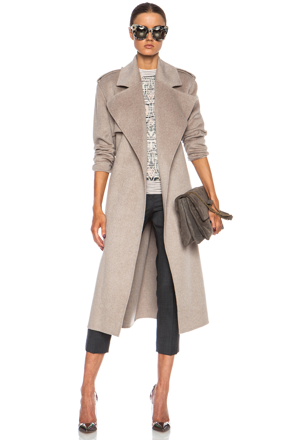 Joseph Win Double Face Cashmere Coat in Natural | Lyst