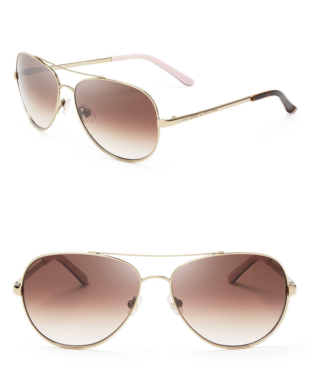 74256a24e5 Lyst - Kate Spade Avaline Aviator Sunglasses - Bloomingdale S ...