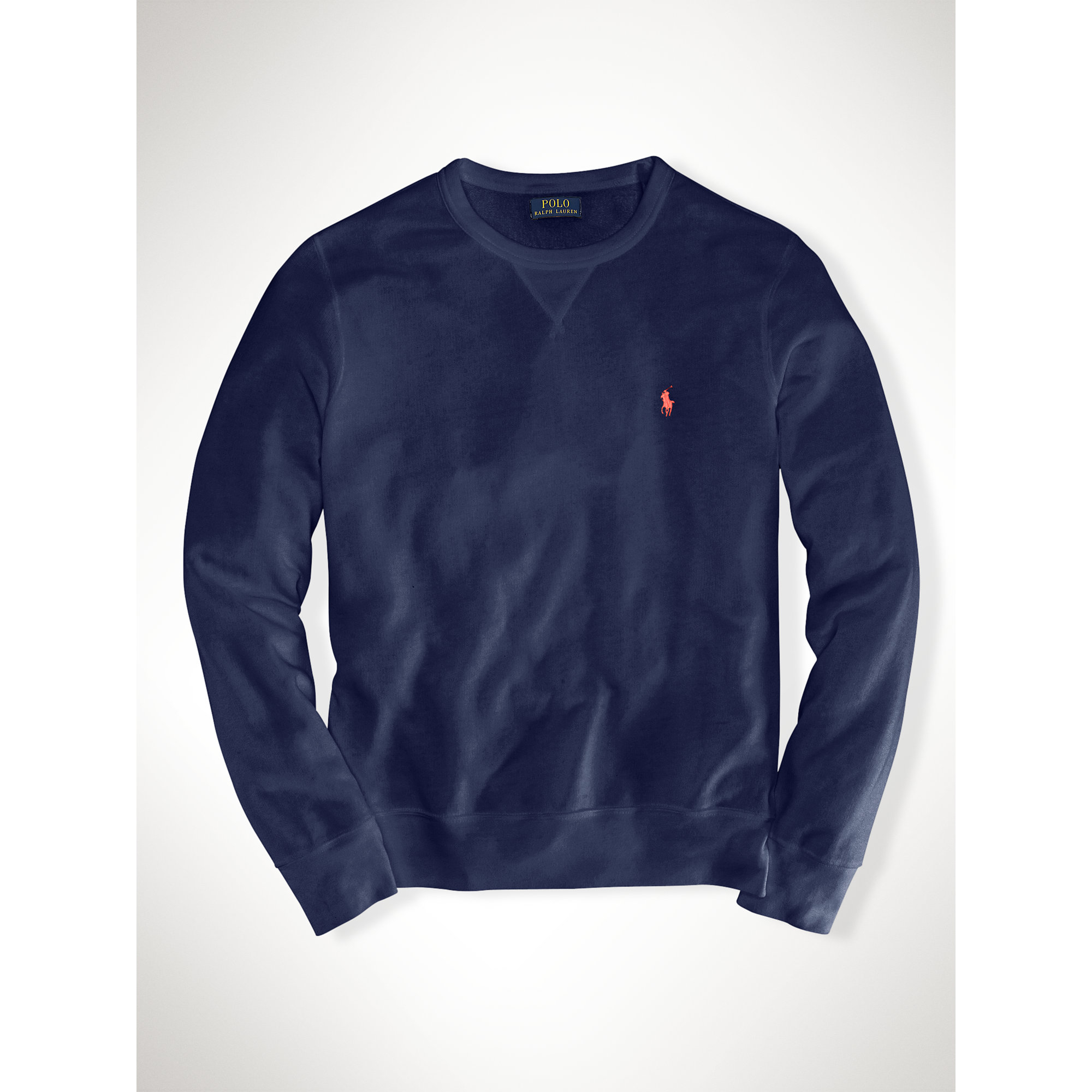 polo ralph lauren french terry sweatshirt in blue lyst. Black Bedroom Furniture Sets. Home Design Ideas