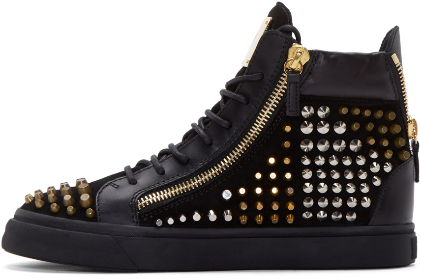 Giuseppe ZanottiStudded May London High-Top Sneakers 7bHNa
