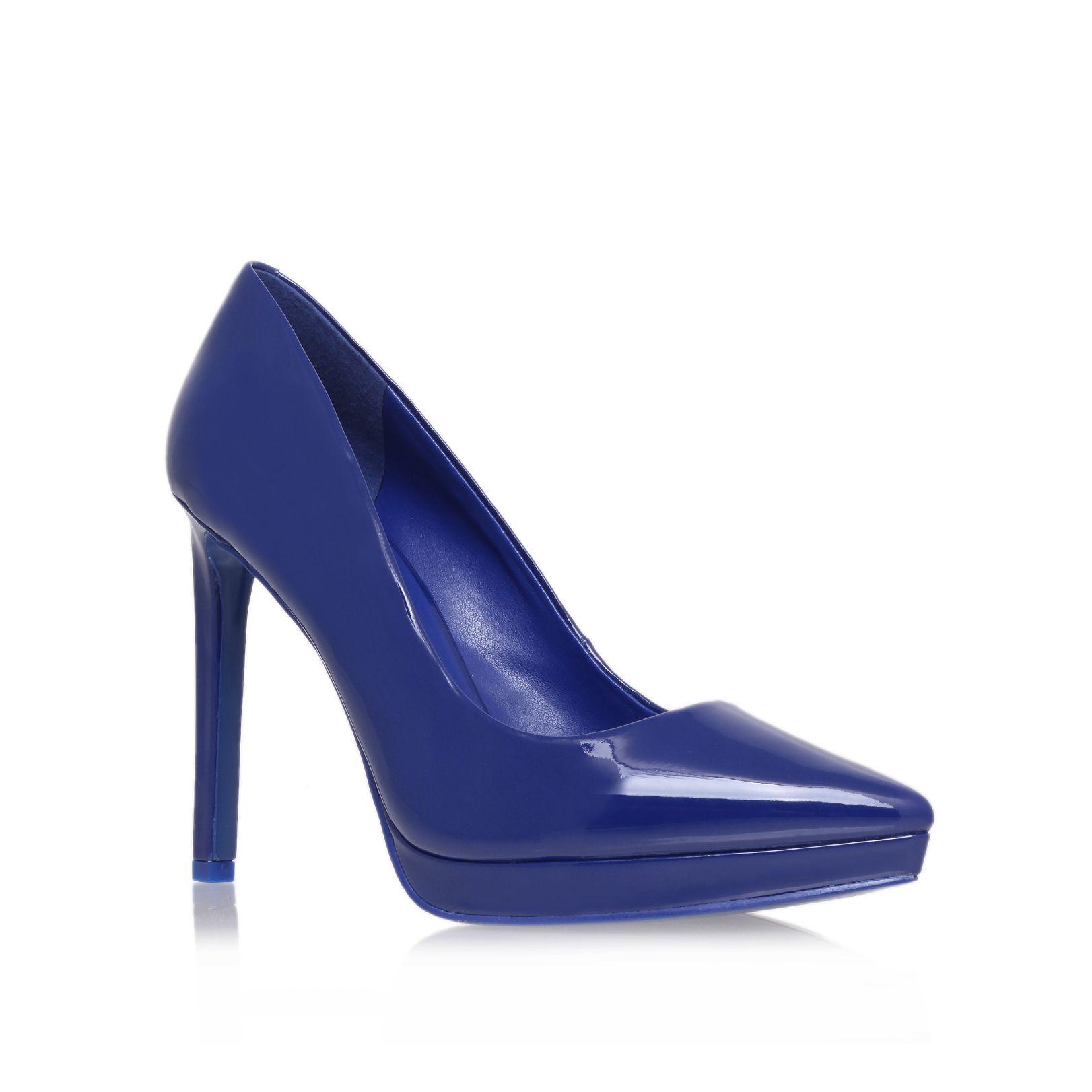 nine west violet3 high heel court shoes in blue lyst