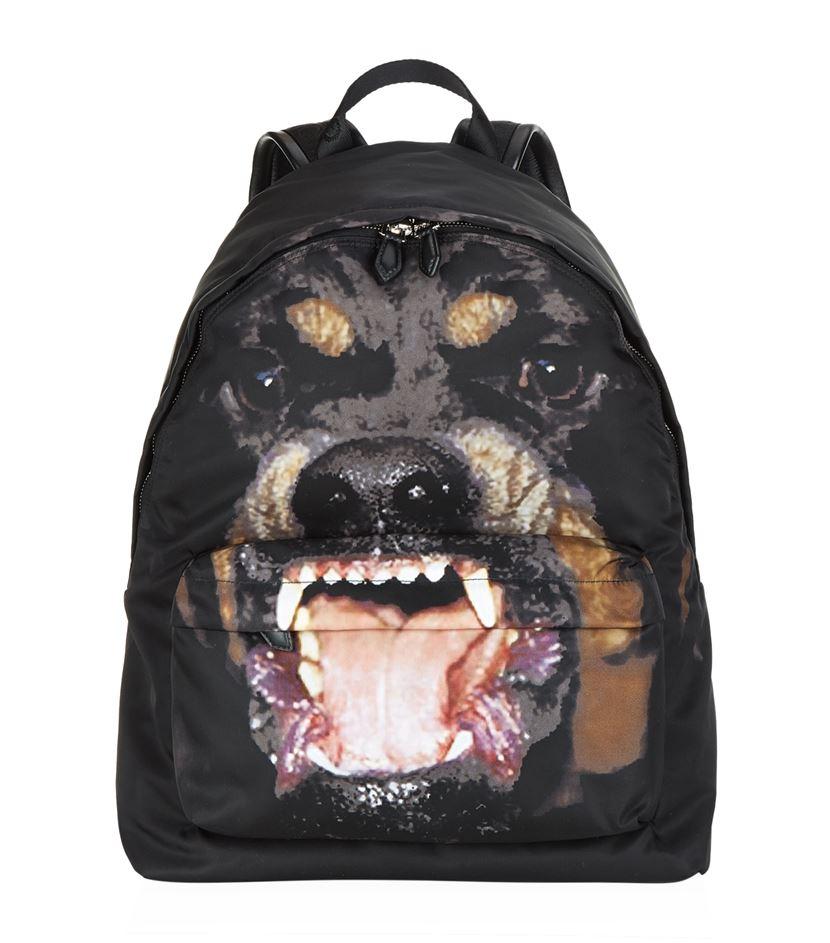 ... Givenchy Rottweiler Print Nylon Backpack in Black for Men - best  service 1199c af74a ... a7ee0b49fd194