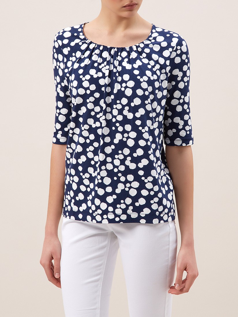 Hobbs ink spot t shirt in blue lyst for Ink spot t shirts