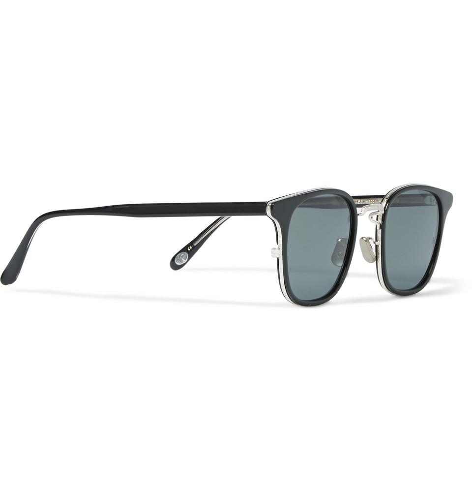 Eyevan 7285 Square-Frame Acetate Sunglasses in Black for ...