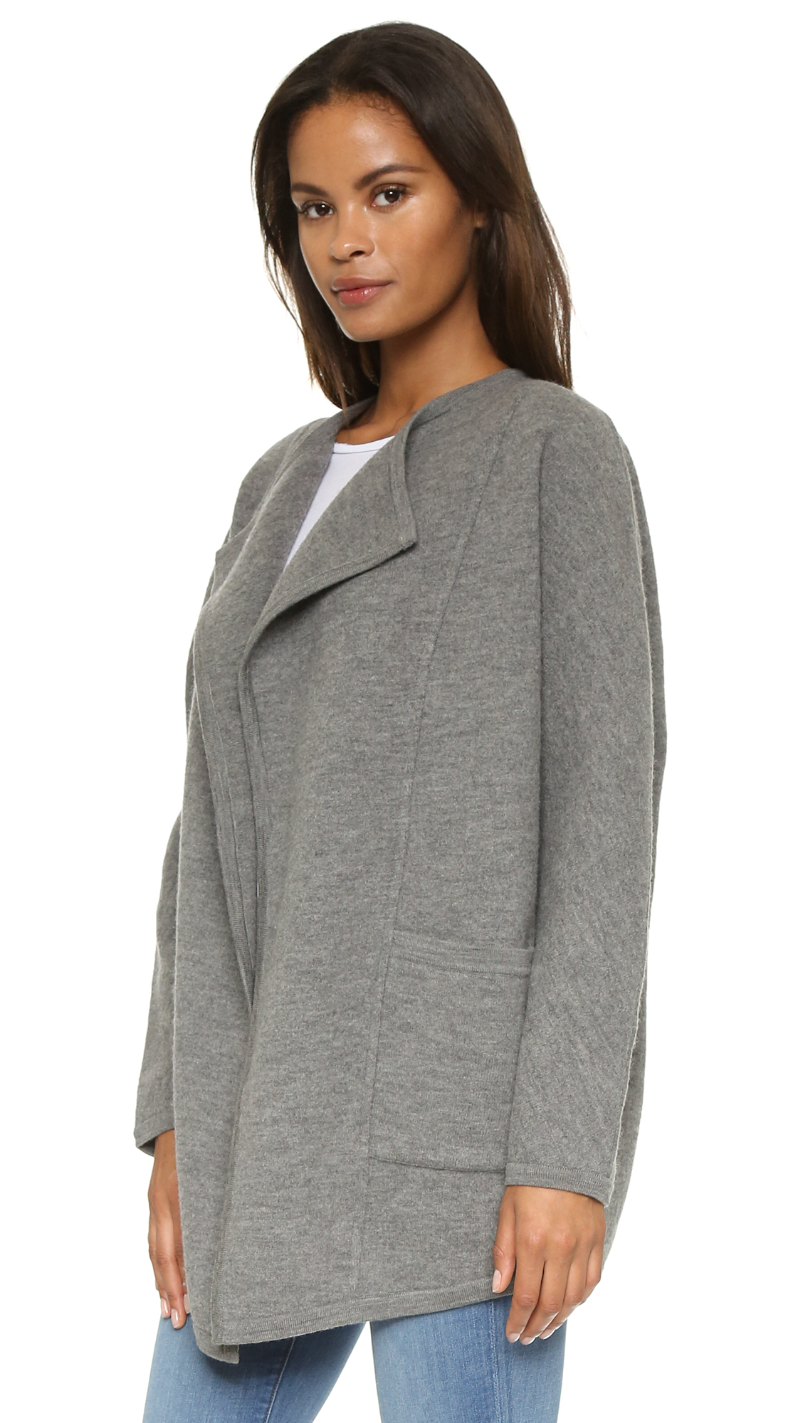 Madewell Sweater Coat - Heather Grey in Gray | Lyst