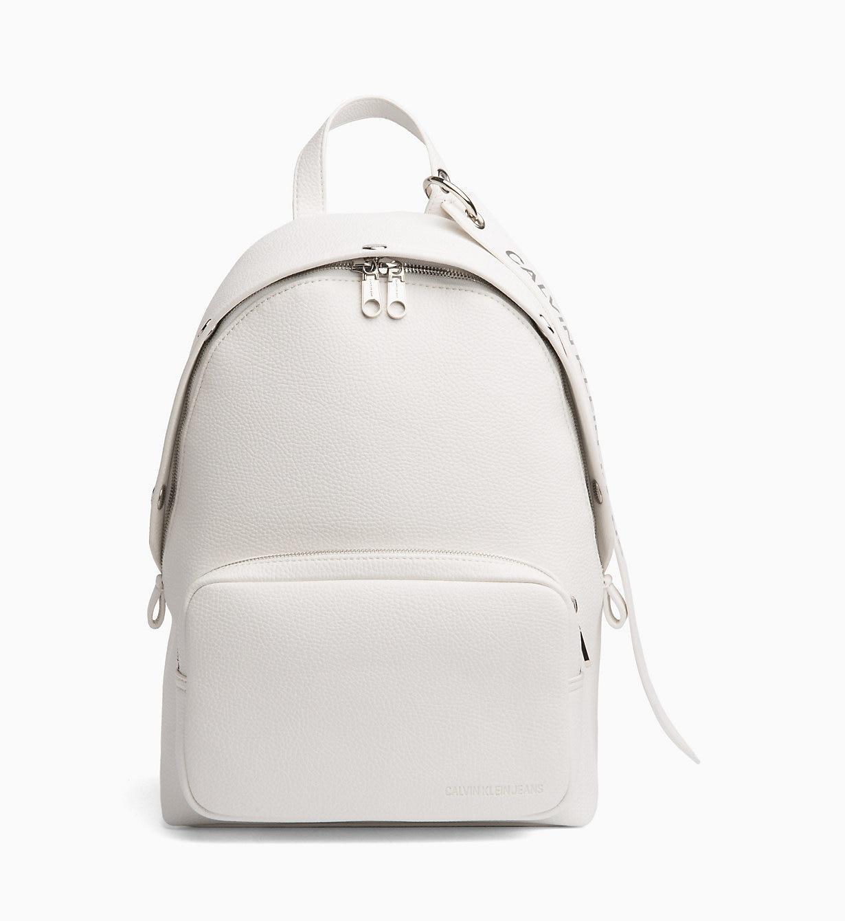 62cc6ad2fc1 Calvin Klein Medium Logo Banner Backpack in White - Lyst