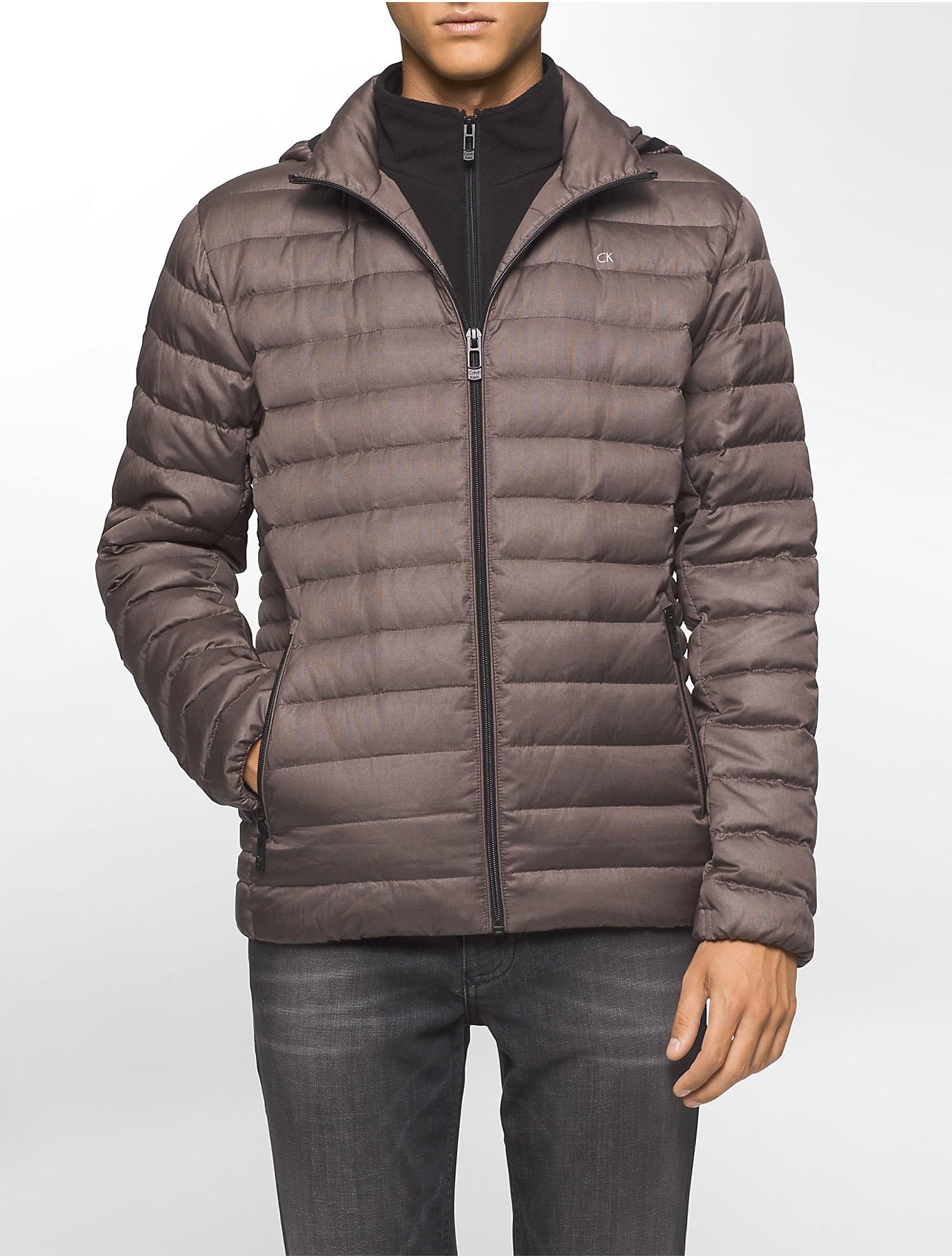 Calvin klein Packable Down Hooded Puffer Jacket for Men | Lyst